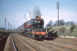 COLOUR-RAIL 35mm RAILWAY SLIDE: BRM 406: CLASS 8P: 46207 PRINCESS ARTHUR OF CON