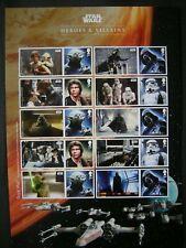 Gb 2015 Smilers Sheet Ls96 Star Wars Heroes & Villains Mnh
