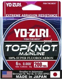 Yo-Zuri TKML6LBNCL200YD Topkot Fluorocarbon Line 6lb 200yd Clear Boxed