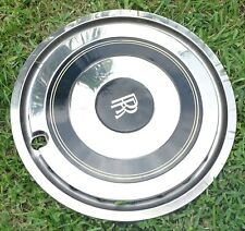 "OEM Rolls Royce RR 21"" 1984 Hubcap Chrome Wheel Cover Trim w/ Pin Stripes"