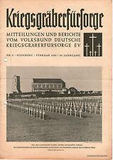 Zeitschrift 1950 Februar Kriegsgräberfürsorge Mitteilungen Berichte 26. Jahrgang