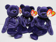 """Ty """"Princess"""" BEAR Beanie Baby, """"SPACE"""" Swing & """"PE-No Number"""" Tush-NewMintTags"""