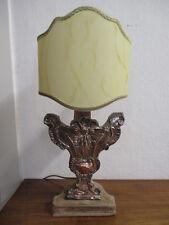 Portapalme - '700 - lamierino argentato sbalzato- lampada abat-jour