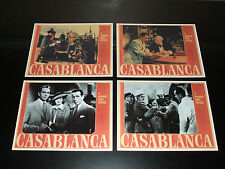 """Collector (Four) Theater Lobby Cards """"CASABLANCA""""  Movie Released in 1943"""