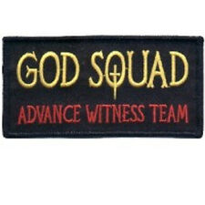 GOD SQUAD ADVANCE WITNESS TEAM CHRISTIAN EMBROIDERED IRON ON  PATCH