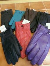 LADIES SOFT LEATHER GLOVES GENUINE LEATHER ALL COLOURS