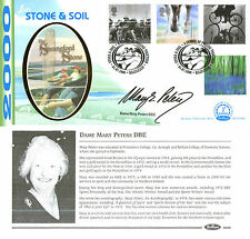 4 JULY 2000 STONE AND SOIL BENHAM BLCS 186b FDC SIGNED BY DAME MARY PETERS SHS