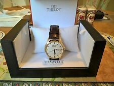 Tissot Genuine Leather Strap Round Wristwatches
