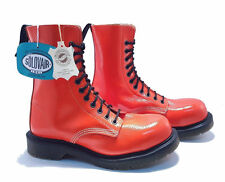 Solovair Dr. Martens Doc England Limited Edition Orange 11 Eye Boots UK 3 US 5