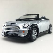 "New 5"" Kinsmart Mini Cooper S Convertible Diecast Model Toy Car 1:28 Silver"