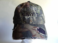 SWIFT Camouflage Distressed Adult Green Brown Baseball Cap Hat