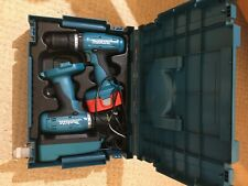 MAKITA 18v CORDLESS DRILL SET OF TWO/CHARGER/BOX USED