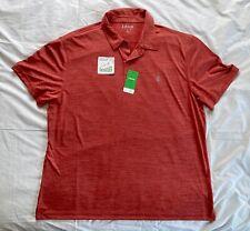 Izod Swingflex Golf Men's Xxl Polo Shirt Light Red New With Tags