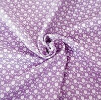 Purple Tulips French Cottage 100% Cotton Fabric Gutermann Home Decor Flowers