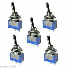 5 x On Off Mini Toggle Switch SPST Miniature for Car Van Boat Dashboard