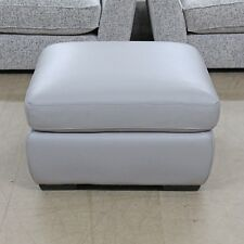 (26) Removable Lid Storage Footstool Grey Leather
