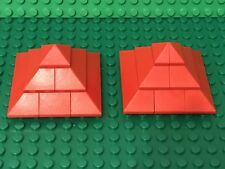 Lego X2 Red Corner Roof / House / Castle / Kingdoms With 2x2 Convex Slope Parts