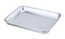 New listing Mini Toaster Oven Tray Pan, P&P Chef Stainless Steel Broiler Pan, Small Rectangl