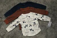 Carter's Baby Boys 3 Piece Long Sleeve Henley Tops 9 Mo NWT Dogs Stripes Solid