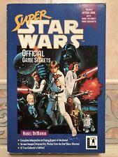 Super Star Wars Official Game Secrets Book Lucasfilm Rusel DeMaria SNES Nintendo