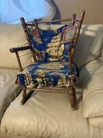 Vintage Child's Americana Rocking Chair With Cushions Adorable