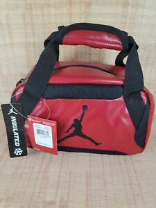 Nike Jordan Insulated Lunch Tote Bag School Travel Work Gym Red 9A1848-R78 $30