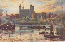 TUCK :LONDON-The Tower of London from Tower Bridge-MATTHISON-OILETTE 7845