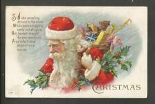 Vintage Embossed Christmas Postcard