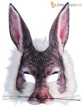 Adult Kids Mad Hatter Tea White Bunny Rabbit Fancy Dress Carnival Book Week Mask