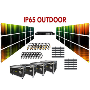 NEW DUAL SCREEN 8-FT x 5-FT P4.8 IP65 OUTDOOR LED VIDEO WALL SYSTEM PACKAGE