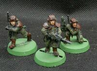Warhammer 40K Astra Militarum Imperial Guard Tank Crew Metal 3 OOP Lemas Russ