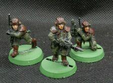 Warhammer 40K Astra Militarum Imperial Guard Tank Crew x 3 Metal OOP Lemas Russ