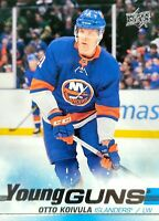 OTTO KOIVULA RC 19-20 UPPER DECK YOUNG GUNS ROOKIE CARD # 483 ISLANDERS 2019-20