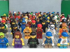 Lego Minifigures Figures mini figures x 10 with hair hat Or accessories job lot