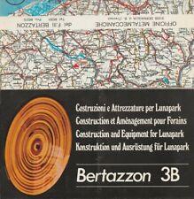 brochure BERTAZZON 3B MANEGE ART FORAIN Fête foraine MINI SCOOTER cirque 1969