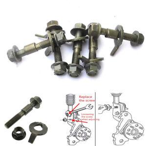 4Pcs 12mm Steel Car Four Wheel Alignment Camber Bolt Screws Kit 10.9 Intensity