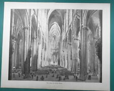 "COLOGNE CATHEDRAL Interior Germany - 1892 Victorian Era Print 16"" x 20"""