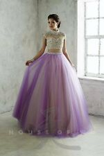 Tiffany Exclusives 46049 Lilac Nude 2 Piece Ball Gown Dress sz 0