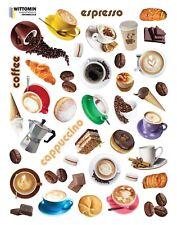 Aufkleber Sticker Wandsticker Wandaufkleber Coffee Kaffee Cafe Geschirr Küche