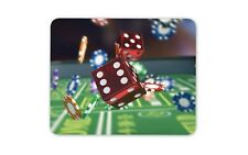 Red dadi Tappetino Mouse Pad-Gioco d'Azzardo Casinò Chips Las Vegas COMPUTER Regalo #15845