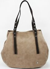 Shopper von TOM TAILOR Denim Tamia Handtasche Schultertasche Tasche in Taupe