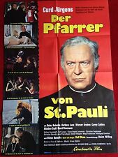Der Pfarrer von St. Pauli Kinoplakat Filmplakat A1 Curd Jürgens 1970