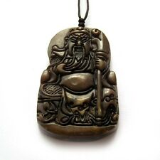 Old Jade Gem Happy Lucky Guangong Guanyu Sword Amulet Pendant Talisman