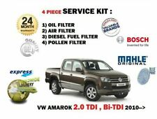 FOR VW AMAROK 2.0 TDI + BI 2010->NEW OIL AIR FUEL POLLEN 4 FILTER SERVICE KIT