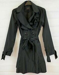 NEW LOOK Womens Black Winter Trench Coat Size 8