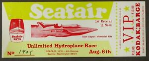 Miss Thriftway 1972 SEATTLE SEAFAIR VIP BARGE big ticket Hydroplane Boat race 0