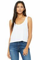 Bella + Canvas White Medium Women's Flowy Boxy Tank Top Tshirt Ladies - 8880 New