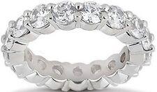 4.8 ct Round Diamond Eternity Ring 14K Gold Band Gia E-F Vvs 16 x 0.30 ct size 6