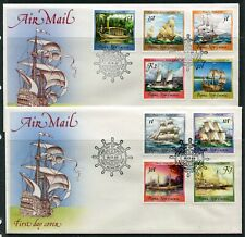 FIRST DAY COVER.... P.N.G.  1987-88 ships.  15 stamps on 4 covers. (2 scans)