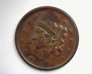 1838 CORONET HEAD LARGE ONE CENT ABOUT UNCIRCULATED TO UNCIRCULATED!
